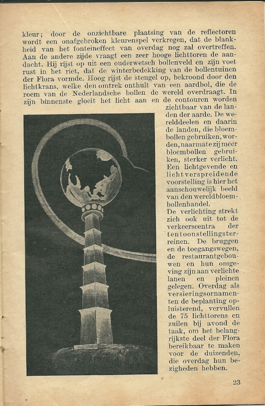 Vervolg van artikel over avondverlichting Flora 1935