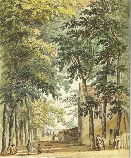 Huize Driesprong bij Groenendaal. Tekening van H.Tavenier uit 1775 (Noord-Hollands Archief)