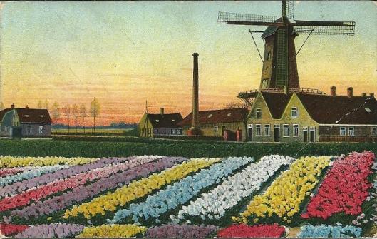 Oude ansicht van vm. molen 'de Nachtegaal' , beter bekend als de molen van vroegere meelfabriek Höcker in de Glip, Heemstede