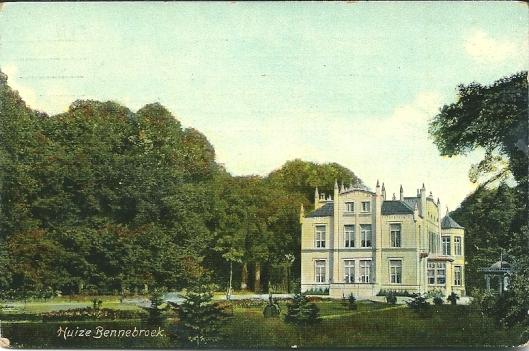 Het door architect Eli Saraber ontworpen Huis te Bennebroek na afbraak van het oude huis in de eerste helft van de 19e eeuw,