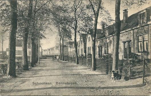 Huizen aan de Schoollaan in Bennebroek