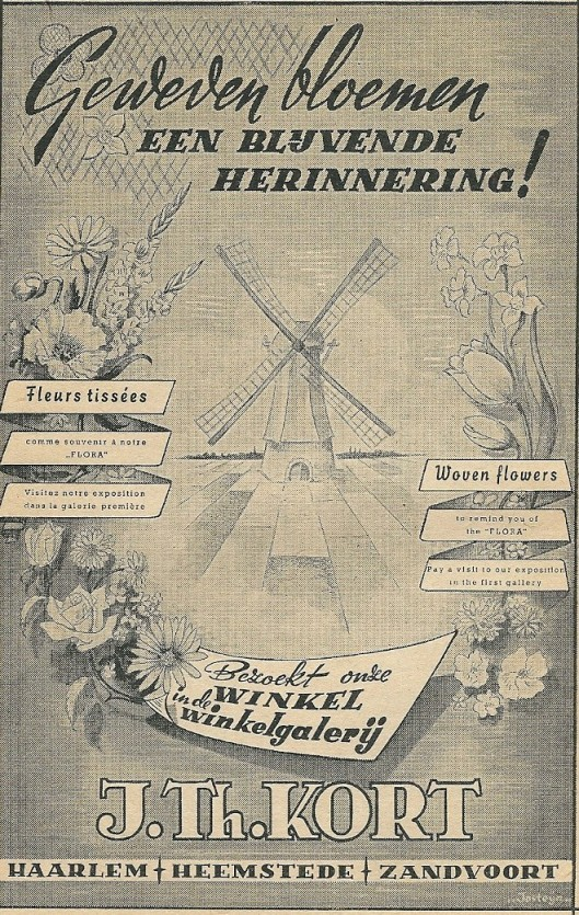 Advertentie J.Th.Kort uit 1953