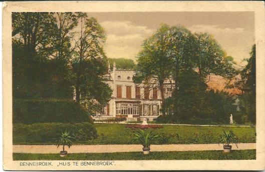 Ansichtkaart uit omstreeks 1920 van het Huis te Bennebroek