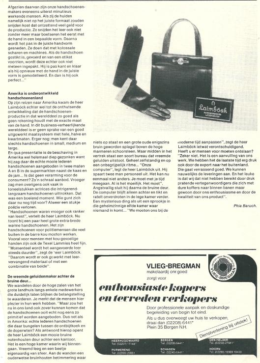 Vervolg van artikel over Laimböck uit: Geef Noord-Holland de ruimte, januari 1978.