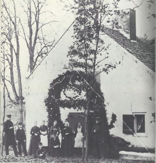 Een feestelijke gebeurtenis in het Groenendaalse bos in 1880.