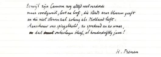 Vervolg gedicht van Harry Prenen