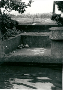 Vermoedelijk de laatste 'spoel- en wassteiger' te Heemstede, Glipperpad 1 (foto Vic Klep, september 1991)