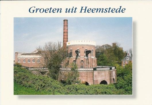 Stoomgemaal Cruquius aan de andere zijde van de Ringvaart gelegen in de gemeente Haarlemmermeer