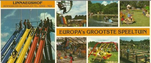 Promotiekaart van speeltuin Linnaeushof