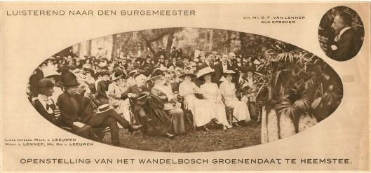 De officiële opening van wandelbos Groenendaal; illustratie uit de Panorama