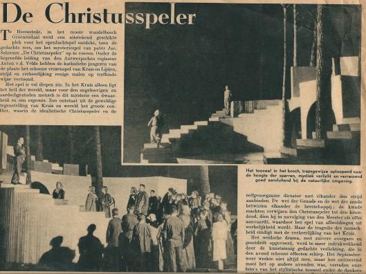 Artikel over de Christusspeler uit de Katholieke Illustratie van 30 september 1937 (1)