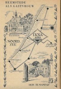 Illustratie voor FLORA 1953, vervaardigd door Jan Wiegman