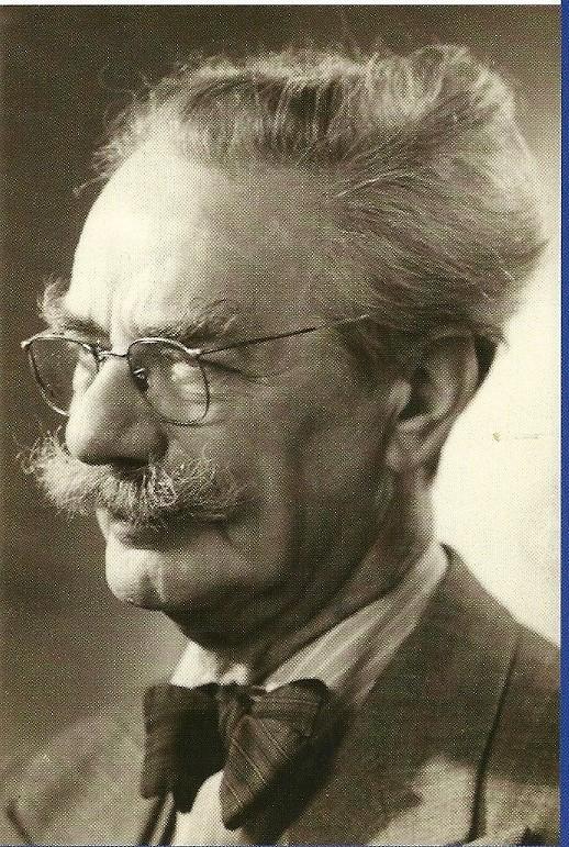 Portret van Willem Bogtman (1882=1955), de meest befaamde glazenier van Zuid-Kennemerland