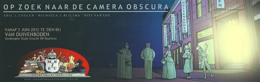 Boekenlegger: 'Op zoek naar de Camera Obscura' (Eric J.Coolen * Michaëla J.Bijlsma * Bies van Ede)
