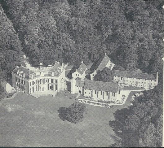 Mariënheuvel na de uitbreiding uit de lucht gezien