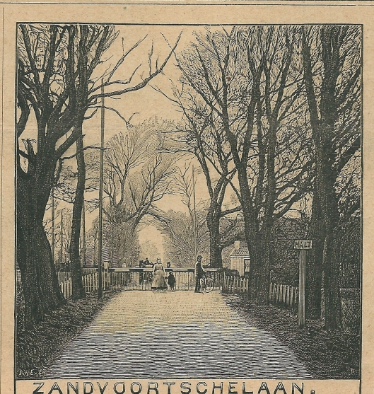 Zandvoortschelaan, Aerdenhout. Zondagsblad, 4 mei 1908.