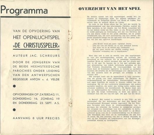 Vervolg programma van de Christusspeler (1937)