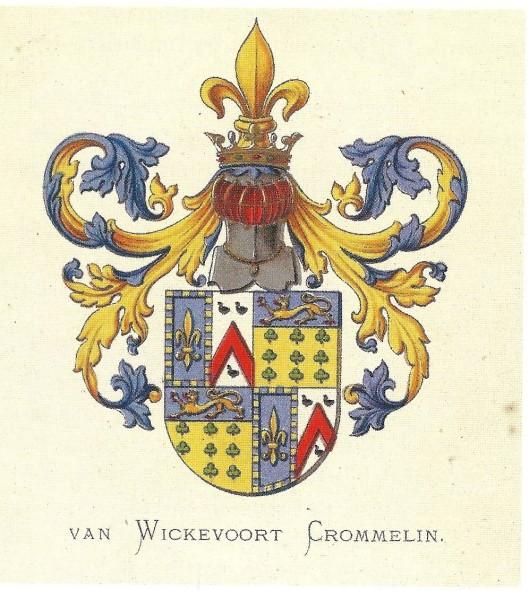 Heraldisch wapen Van Wickevoort Crommelin