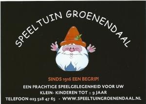 Advertentie van speeltuin Groenendaal