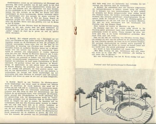 Slot van programma openluchtspel de Christusspeler uit 1937