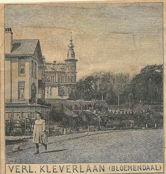 Verlengde Kleverlaan, Bloemendaal. Zondagsblad, 1910