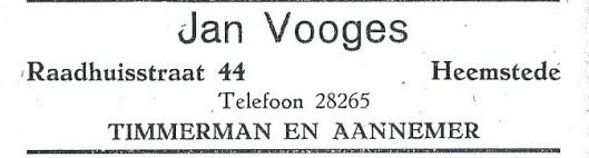 Jan Vooges, timmerman en aannemer (1927)