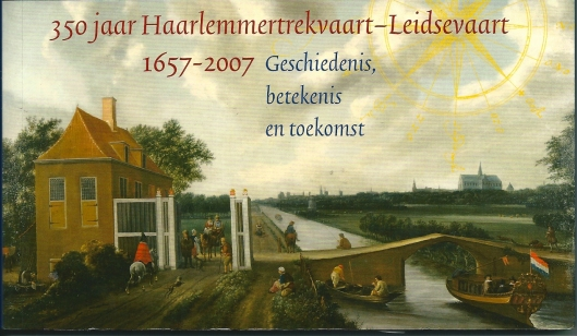 Schilderij van oudste tolhek en tolhuis aan de Leidsevaart onder Heemstede