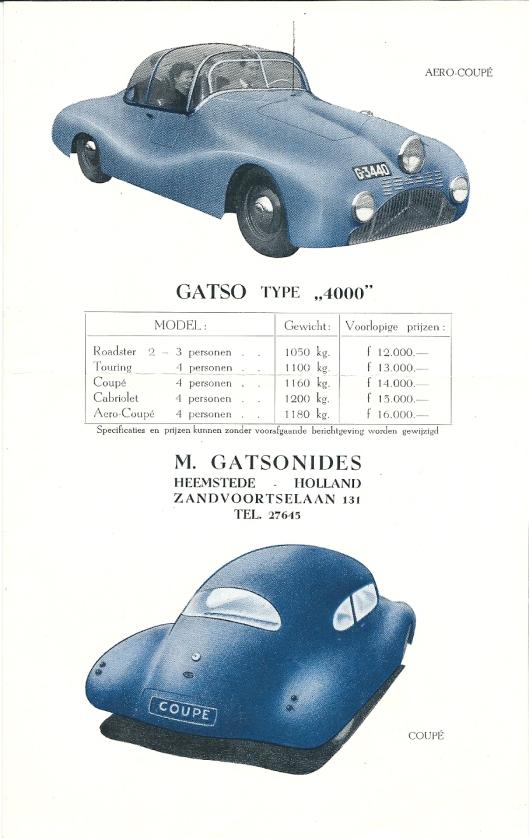 Folder van Gatso type '4000', vervaardigd in het pand Zandvoortselaan 131 Heemstede