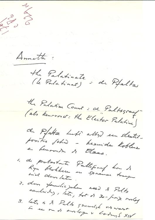 Handschrift Dolf Verspoor