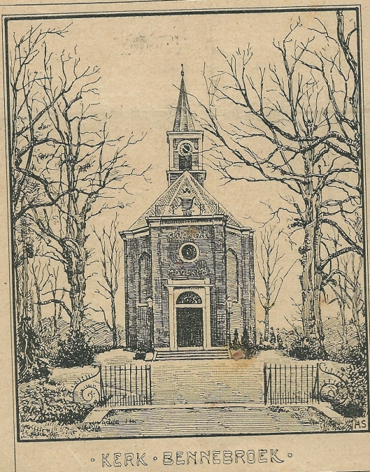 Kerk Bennebroek. Zondagsblad, 2 november 1903