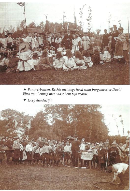 Kinderfeesten bij de inhuldiging van koningin Wilhelmina in 1898. Uit: HeerlijkHeden, nummer 159, pagina 18
