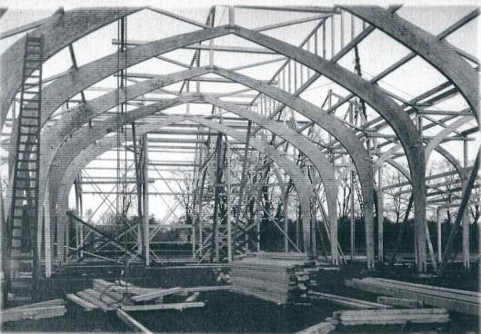 Bouw hoofdgebouw Flora-1925 door aannemer Korringa