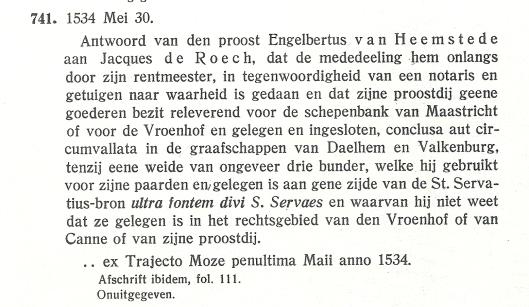 Uit: P.Doppler. Verzameling van charters...tweede deel. nr. 741, blz. 104.