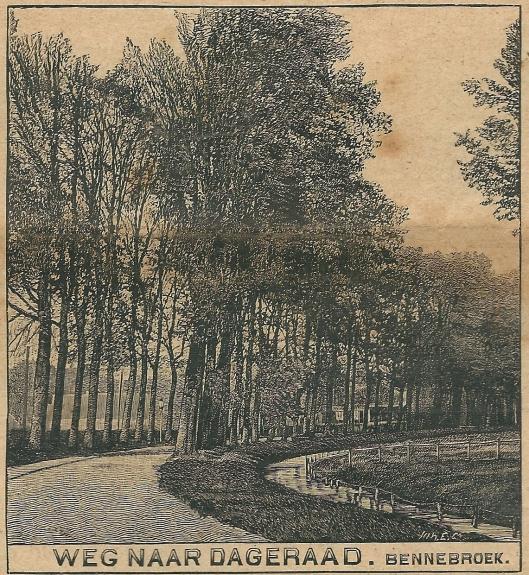 Weg naar Dageraad, Bennebroek. Zondagsblad, 23 mei 1910.