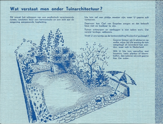Flyer Carl R.van Empelen, circa 1950 (2)