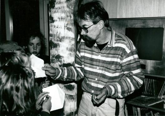 Dichter-onderwijzer Peter Borgwat in september 1995 gefotografeerd door V.C.Klep