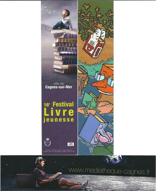 Boekenleggers van de Médiathèque Municipale in Cagnes-sur-Mer