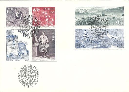 Aan Linnaeus zijn wereldwijd talrijke postzegels gewijd. Op deze serie, uitgegeven op 23 mei 1978 door de Zweedse posterijen is ook een zegel te zien met de jonge Linnaeus in laplands kostuum, waarvan tot begin 1900 een afbeelding hing op de Hartekamp.