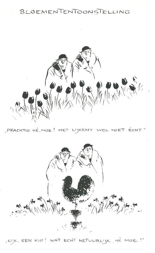 Reactie van een anonymus op de cartoon van Jo Spier