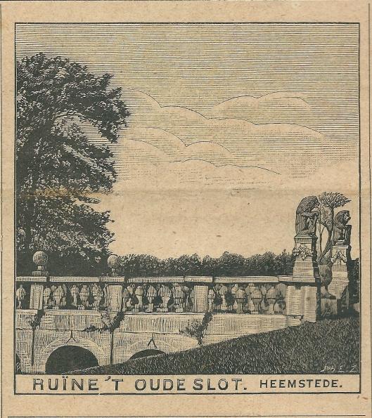 Ruïne 't Oude Slot. Zondagsblad 14 october 1907