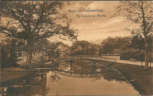 Leeuw en Hooft aan de Crayenestervaart in Heemstede begin 1920