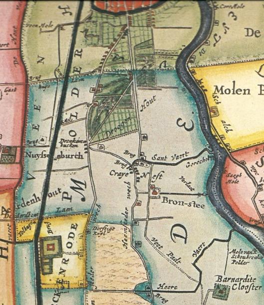Op de kaart van Melchior Bolstra (1687/1746) staat de Dorstige Kuil als enige herberg vermeld langs de Groote Heemsteder Wech