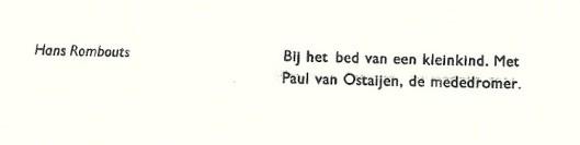 Uit: de bibliofiele uitgave: XXIX & LV. samengesteld door Hans ERombourts voor bibliofiel en grafisch genootschap 'Het Beschreven Blad', 1996.