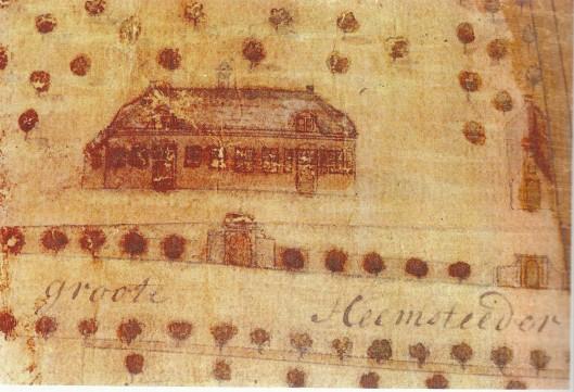 Westerduin, detail op grote kaart van Berkenrode door J.Leupenius uit omstreeks 1683 (Noord-Hollands Archief)