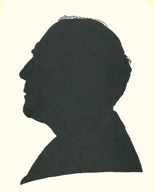 Silhouet van Pieter Wetselaar, door hemzelf getekend voor: 'Het Beschreven Bla en profil' , 1995
