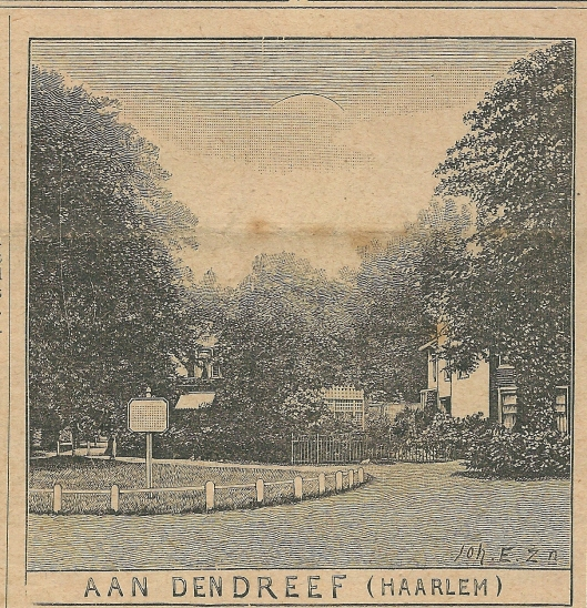 Aan den Dreef, Haarlem. Zondagsblad, 17 augustus 1908.