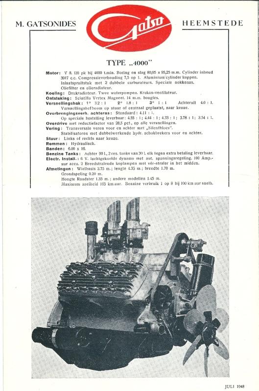 Technische informatie over de Gatso type '4000'