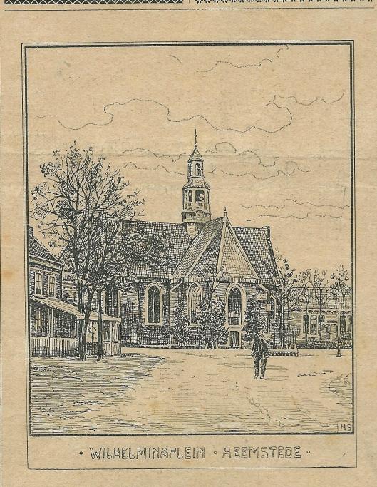 Wilhelminaplein Heemstede. Zondagsblad, 5 october 1903