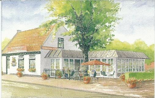 Reclamekaartje van pannenkoekenhuis 'De Konijnenberg', Herenweg 33, Heemstede