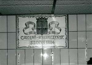 Tegeltableau met reclame voor Calvé in winkel Kiebert, Binnenweg